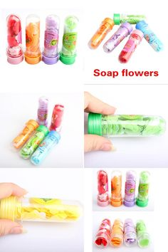 [Visit to Buy] 1pcs Portable Tube Soap Petals For Travel Scented Soap Bath Flakes ChildHand Washing Soaps (Random Color ) #Advertisement