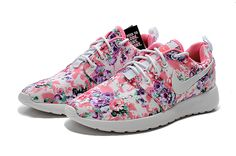 #shoes for #womens sneakers 511882-808 Nike 2014 / 2015 Womens Shoes Roshe Run Painted Pink Purple Green Floral White