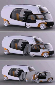 RV Concept Car I love the creativity and flexibility of this idea!!!!