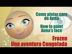 Como pintar cara para fofucha Anna una aventura congelada - How to paint Anna Frozen - YouTube