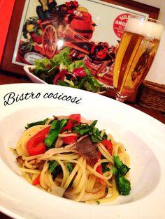 Bistro cosicosi❤︎ Today's Dinner❤︎ date❤︎2015.3  ⋈彩り野菜の塩辛パスタ  #ビストロコジコジ