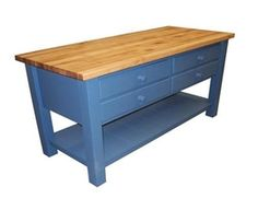 Kitchen Island Work Table | Traditional Kitchen Island Work Table From Coastal Woodcraft Model ...