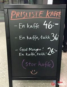 En smart prislista & skylt... Swedish Language, Funny Jokes, Hilarious, Faith In Humanity Restored, Weird Pictures, Have A Laugh, Signs, Funny Moments, Laugh Out Loud