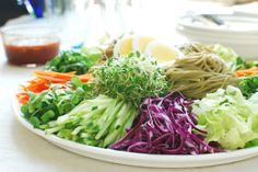 Jaengban Guksu (Korean Cold Noodles and Vegetables)