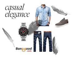 """Banggood"" by thefashion007 ❤ liked on Polyvore featuring men's fashion and menswear"