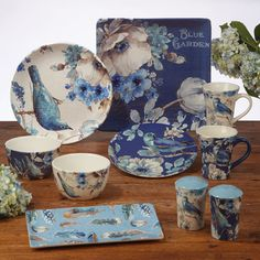 Indigold by Certified Int Corp Square Dinnerware Set, Dinnerware Sets, China Dinnerware, Blue Plates, Tea Set, Christmas Ornaments, Mugs, Tableware, Artwork