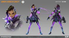 Sombra Character concept for Overwatch, Ben Zhang on ArtStation at https://www.artstation.com/artwork/nG2d9