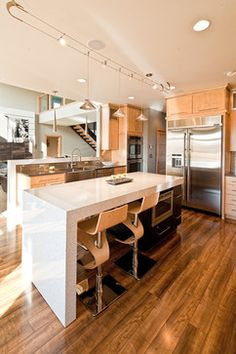 Kitchen Island Lighting Design Ideas, Pictures, Remodel and Decor Alternatives for additional task lighting in kitchen