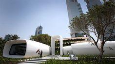 En Dubai se construyó la primera oficina 3D  Moderno y sustentable El edificio se levantó en 17 días. Foto: AP