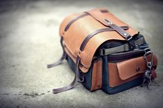 camera bag, leather and cordura 1500