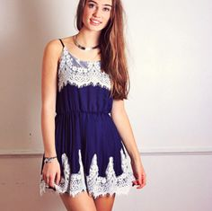 Navy Lace affair Dress