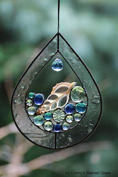 Seashell Drop Stained Glass Suncatcher