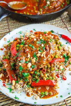Thai Peanut Chicken Saute