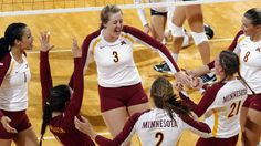 Gopher volleyball beat Wisconsin on Wednesday in the Border Battle!