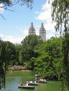 Central Park, Manhattan, New York, USA. 2008. This city holds my heart in its' hands.  #central park #NY #rowing #boat