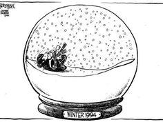"""Jim Borgman winter cartoons. """"1994"""""""