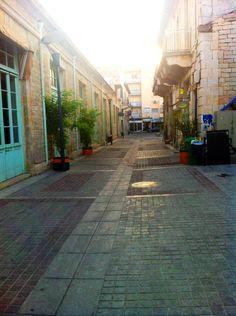 Pedestrian zones in old town Limassol