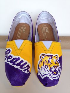 Custom LSU TOMS, a MUST for game days!!!