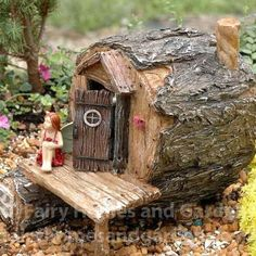 The Hidden Hollow Cottage would be perfect for a Summer Camp, or Woodland Knoll themed fairy garden.