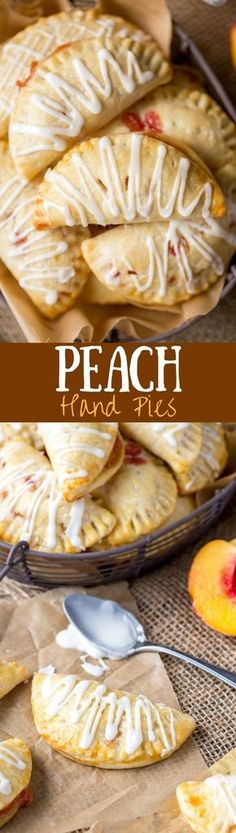 Homemade Peach Hand Pies - soft and sweet and loaded with juicy peaches // Saving Dessert Just Desserts, Delicious Desserts, Yummy Food, Baking Desserts, Pie Recipes, Dessert Recipes, Cooking Recipes, Hand Pies, Dessert Parfait