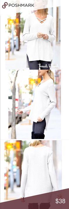Spotted while shopping on Poshmark: Crisp White Sweater! #poshmark #fashion #shopping #style #Sweaters