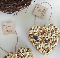 Birdseed wedding favours