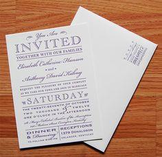 Letterpress Wedding Invitations | Steam Whistle Letterpress