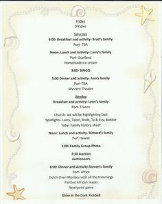 Cruisin Family Reunion Theme Invitations Themes Program Template Sample