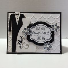 Peanuts and Peppers Papercrafting: Sunday Share - New Stampin' Up! Striped Scallops Thinlits Die Wedding Card
