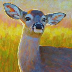 """Daily Paintworks - """"The Better to Hear You With, My Dear!"""" - Original Fine Art for Sale - © Rita Kirkman"""