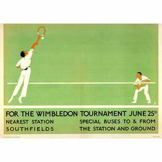 1922 Wimbledon Tennis Championships Poster A3 A2  Reprint