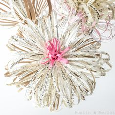 DIY Paper Fireworks Flower Tutorial                                                                                                                                                                                 More