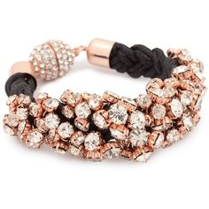 Rose Gold Crystal Chain Rope Bracelet - Online Exclusive ... debenhams.com