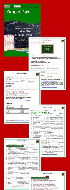 Simple Past - Arbeitsblätter mit Lösungen (6. Klasse ...