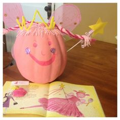 Praises of a Wife and Mommy: Story Book Pumpkin-Pinkalicous Pumpkin Fall Crafts, Holiday Crafts, Holiday Fun, Crafts For Kids, Daycare Crafts, Halloween Activities, Halloween Themes, Halloween Crafts, Pink Pumpkins
