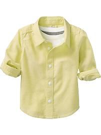 Long-Sleeve Oxford Shirts for Baby