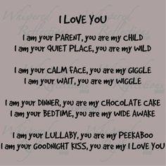 'I love you' poem. Oh makes me tear up. <3