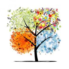 Free art print of Four seasons - spring, summer, autumn, winter. Art tree beautiful for your design. Get up to 10 Gallery-Quality Art Prints for Free. Four Seasons Art, Creative Writing Prompts, Free Art Prints, Cross Paintings, Winter Art, Button Art, Simple Art, Art Plastique, Tree Art