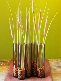 glas vasen herbstdeko ideen für gemütliches interieur