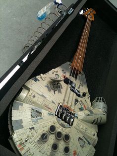 Star Wars Millenium Falcon Bass Guitar! If the 12 year old me found this I may have exploded just like Alderaan