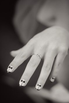 Cute wedding nails :)) lovely ring too! nice and simple for me.