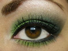 I don't own anything green so I guess my makeup has to be green tonight