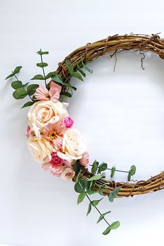 Create a simple DIY front door wreath with artificial flowers from Afloral.com. #wreath #fakeflowers #fauxflowers #wreaths #diywreaths Fake Flowers, Dried Flowers, Artificial Flowers, Wreaths For Front Door, Door Wreaths, Simple Diy, Easy Diy, Wedding Bouquets, Wedding Flowers