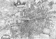 I want a huge print of Roque's 1756 map of Dublin for the living room wall Dublin Map, Dublin City, Traffic Light, Research Projects, City Photo, World, Artwork, Boxes, Living Room