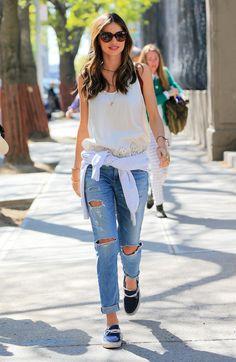 studded hearts miranda kerr ripped jeans balenciaga rings