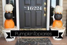 DIY Halloween: DIY Pumpkin Topiaries: DIY Halloween Decor