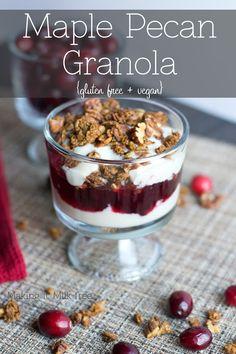 Maple Pecan Granola {gluten free + vegan} | Making it Milk-free | makingitmilkfree.com