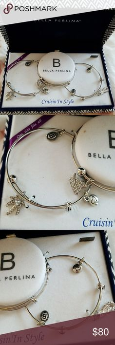 Bella Perlina Bracelets 🔸️Cruisin 'In Style  🔸️3 bracelets with charms  🔸️Brand new. Still in original packaging/box Bella Perlina Jewelry Bracelets