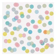Tafel confetti Groot 2,5 cm - Per zakje van 15 gram www.confettienco.be #decoratie #verjaardag #feest #kinderen #confetti #tafel #pastel #geel #blauwe #roze #webshop