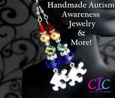 Handmade Autism Awareness Jewelry and More! http://charitsinspirationalcreations.blogspot.com/2013/04/handmade-autism-awareness-jewelry-and.html